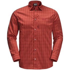 Jack Wolfskin Rays Flex T-shirt à manches longues Homme, mexican pepper checks
